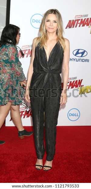 LOS ANGELES - JUN 25:  Michelle Pfeiffer at the Ant-Man and the Wasp Premiere at the El Capitan Theater on June 25, 2018 in Los Angeles, CA