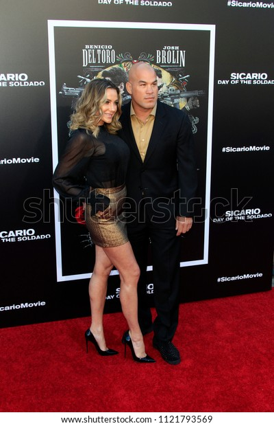 """LOS ANGELES - JUN 26:  Amber Nicole Miller, Tito Ortiz at the """"Sicario: Day Of The Soldado"""" Premiere at the Village Theater on June 26, 2018 in Westwood, CA"""