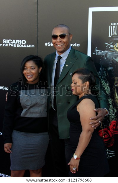 "LOS ANGELES - JUN 26:  Caron Butler at the ""Sicario: Day Of The Soldado"" Premiere at the Village Theater on June 26, 2018 in Westwood, CA"