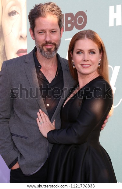 """LOS ANGELES - JUN 26:  Darren Le Gallo, Amy Adams at the """"Sharp Objects"""" HBO Premiere Screening at the ArcLight Theater on June 26, 2018 in Los Angeles, CA"""