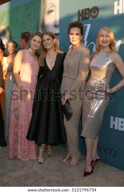 """LOS ANGELES - JUN 26:  Eliza Scanlen, Amy Adams, Elizabeth Perkins, Patricia Clarkson at the """"Sharp Objects"""" HBO Premiere Screening at the ArcLight Theater on June 26, 2018 in Los Angeles, CA"""