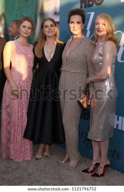 "LOS ANGELES - JUN 26:  Eliza Scanlen, Amy Adams, Elizabeth Perkins, Patricia Clarkson at the ""Sharp Objects"" HBO Premiere Screening at the ArcLight Theater on June 26, 2018 in Los Angeles, CA"