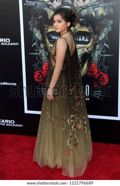 """LOS ANGELES - JUN 26:  Isabella Moner at the """"Sicario: Day Of The Soldado"""" Premiere at the Village Theater on June 26, 2018 in Westwood, CA"""