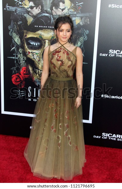 "LOS ANGELES - JUN 26:  Isabella Moner at the ""Sicario: Day Of The Soldado"" Premiere at the Village Theater on June 26, 2018 in Westwood, CA"