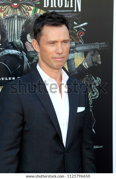 """LOS ANGELES - JUN 26:  Jeffrey Donova at the """"Sicario: Day Of The Soldado"""" Premiere at the Village Theater on June 26, 2018 in Westwood, CA"""