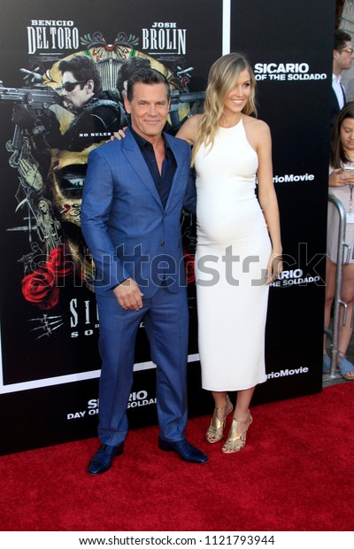 """LOS ANGELES - JUN 26:  Josh Brolin, Kathryn Boyd at the """"Sicario: Day Of The Soldado"""" Premiere at the Village Theater on June 26, 2018 in Westwood, CA"""
