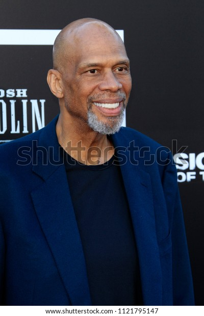 "LOS ANGELES - JUN 26:  Kareem Abdul-Jabbar at the ""Sicario: Day Of The Soldado"" Premiere at the Village Theater on June 26, 2018 in Westwood, CA"