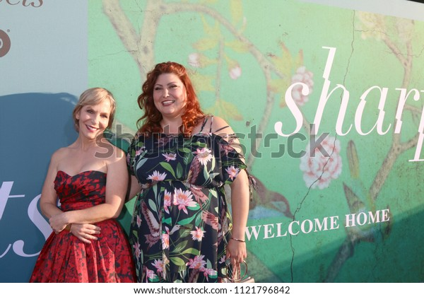"""LOS ANGELES - JUN 26:  Marti Noxon, Joy Nash at the """"Sharp Objects"""" HBO Premiere Screening at the ArcLight Theater on June 26, 2018 in Los Angeles, CA"""
