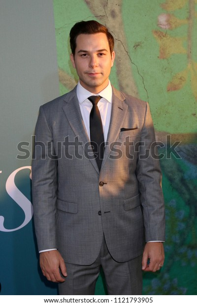 "LOS ANGELES - JUN 26:  Skylar Astin at the ""Sharp Objects"" HBO Premiere Screening at the ArcLight Theater on June 26, 2018 in Los Angeles, CA"
