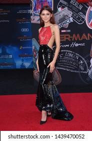 LOS ANGELES - JUN 26:  Zendaya Coleman arrives for the 'Spider-Man: Far From Home' World Premiere on June 26, 2019 in Hollywood, CA