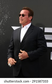 """LOS ANGELES - JUN 28:  Arnold Schwarzenegger at the """"Terminator Genisys"""" Los Angeles Premiere at the Dolby Theater on June 28, 2015 in Los Angeles, CA"""