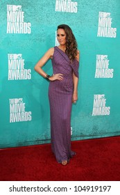 LOS ANGELES - JUN 3:  Louise Roe arriving at the 2012 MTV Movie Awards at Gibson Ampitheater on June 3, 2012 in Los Angeles, CA