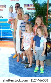 """LOS ANGELES - JUN 30:  Dean McDermott, Tori Spelling, children at the """"Hotel Transylvania 3: Summer Vacation"""" World Premiere at the Village Theater on June 30, 2018 in Westwood, CA"""