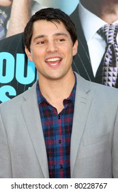 """LOS ANGELES - JUN 30:  Nicholas D'Agosto arriving at the """"Horrible Bosses"""" Premiere at Graumans Chinese Theater on June 30, 2011 in Los Angeles, CA"""