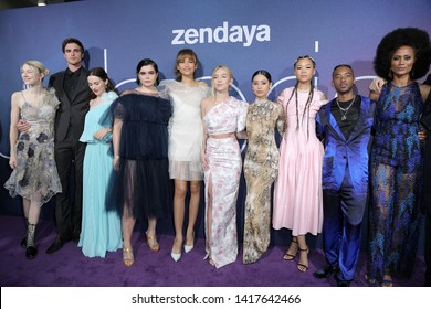 "LOS ANGELES - JUN 4: Cast at the LA Premiere Of HBO's ""Euphoria"" at the Cinerama Dome on June 4, 2019 in Los Angeles, CA"