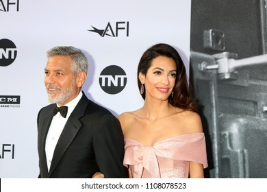 LOS ANGELES - JUN 7:  George Clooney, Amal Clooney at the American Film Institute Lifetime Achievement Award to George Clooney at the Dolby Theater on June 7, 2018 in Los Angeles, CA