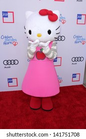 LOS ANGELES - JUN 8:  Hello Kitty charachter arrives at the 1st Annual Children Mending Hearts Style Sunday at the Private Residence on June 8, 2013 in Beverly Hills, CA