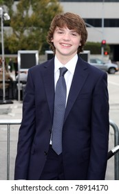 """LOS ANGELES - JUN 8:  Joel Courtney arriving at the """"Super 8"""" Premiere at Village Theataer on June 8, 2011 in Westwood, CA"""