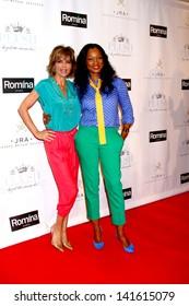 LOS ANGELES - JUN 9:  Lisa Rinna, Garcelle Beauvais arrives at the 2013 Plush Show at the Hyatt Regency Century Plaza Hotel on June 9, 2013 in Century City, CA