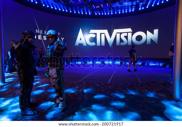 LOS ANGELES - JUNE 12: Activision Booth with Destiny and Call of Duty: Advanced Warfare at E3 2014, the Expo for video games on June 12, 2014 in Los Angeles