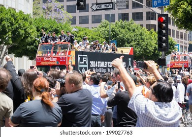 LOS ANGELES - JUNE 16, 2014:LA Kings Stanley Cup Parade Celebration on June 16, 2014 in Los Angeles,CA