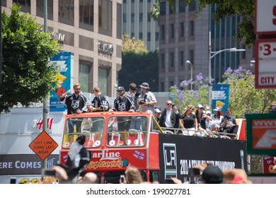 LOS ANGELES - JUNE 16, 2014:LA Kings Stanley Cup Parade Celebration on June 16, 2014 in Los Angeles,CA
