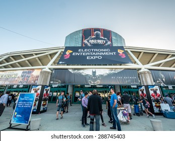 LOS ANGELES - June 16: Los Angeles Convention Center hosting E3 2015 expo. Electronic Entertainment Expo, commonly known as E3, is an annual trade fair for the video game industry