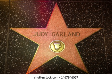 Los Angeles - June 17, 2019: Judy Garland's star on the Hollywood Walk of Fame
