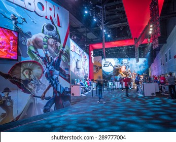 LOS ANGELES - June 17: Battleborn video game booth at E3 2015 expo. Electronic Entertainment Expo, commonly known as E3, is an annual trade fair for the video game industry