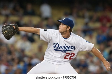 LOS ANGELES - JUNE 20: Los Angeles Dodgers starting pitcher Clayton Kershaw #22 during the Major League Baseball game on June 20 2011 at Dodger Stadium in Los Angeles.