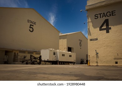 Los Angeles - June 4, 2016: Paramount pictures sound stages day exterior