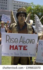 Los Angeles - June 6, 2018: Families Belong Together political protest