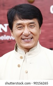 LOS ANGELES - JUNE 7: Jackie Chan at the premiere of 'The Karate Kid' at the Mann Village Theater on June 7, 2010 in Los Angeles, California