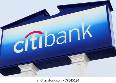 LOS ANGELES - JUNE 7: A sign with logo of Citibank on June 7, 2011 located in Los Angeles, California at a branch outlet of the bank.