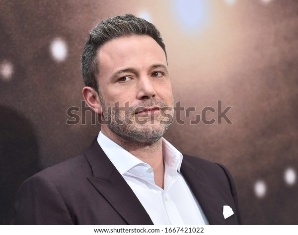 LOS ANGELES - MAR 01:  Ben Affleck arrives for 'The Way Back' World Premiere on March 01, 2020 in Los Angeles, CA