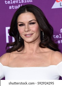 """LOS ANGELES - MAR 01:  Catherine Zeta-Jones arrives for the """"Feud: Bette and Joan"""" Hollywood Premiere on March 1, 2017 in Hollywood, CA"""
