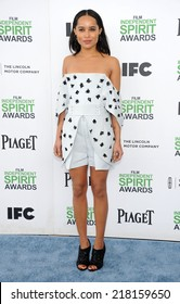 LOS ANGELES - MAR 01:  Zoe Kravitz arrives to the Film Independent Spirit Awards 2014  on March 01, 2014 in Santa Monica, CA.