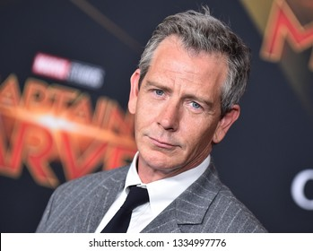 LOS ANGELES - MAR 04:  Ben Mendelsohn arrives for the 'Captain Marvel' World Premiere on March 04, 2019 in Hollywood, CA