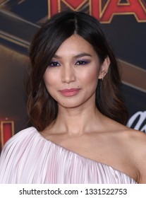 LOS ANGELES - MAR 04:  Gemma Chan arrives for the 'Captain Marvel' World Premiere on March 04, 2019 in Hollywood, CA