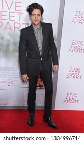 LOS ANGELES - MAR 07:  Cole Sprouse arrives for the 'Five Feet Apart' Los Angeles Premiere on March 07, 2019 in Westwood, CA