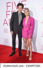 LOS ANGELES - MAR 07:  Cole Sprouse and Haley Lu Richardson arrives for the 'Five Feet Apart' Los Angeles Premiere on March 07, 2019 in Westwood, CA