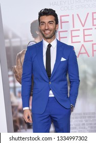 LOS ANGELES - MAR 07:  Justin Baldoni arrives for the 'Five Feet Apart' Los Angeles Premiere on March 07, 2019 in Westwood, CA