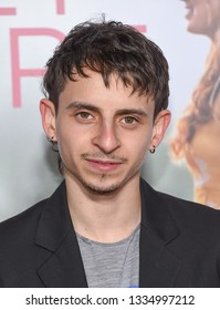 LOS ANGELES - MAR 07:  Moises Arias arrives for the 'Five Feet Apart' Los Angeles Premiere on March 07, 2019 in Westwood, CA