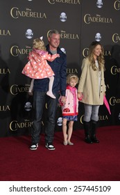 """LOS ANGELES - MAR 1:  Eric Dane, Rebecca Gayheart, daughters at the """"Cinderella"""" World Premiere at the El Capitan Theater on March 1, 2015 in Los Angeles, CA"""