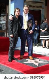 LOS ANGELES - MAR 10:  Emile Hirsch, John Goodman at the John Goodman Walk of Fame Star Ceremony on the Hollywood Walk of Fame on March 10, 2017 in Los Angeles, CA