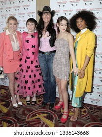 """LOS ANGELES - MAR 10:  Laura Wiggins,  Sophia Lillis, Katt Shea,  M Graham, Zoe Renee at the """"Nancy Drew And The Hidden Staircase"""" World Premiere at the AMC 15 on March 10, 2019 in Century City, CA"""