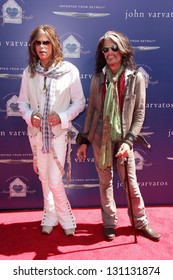 LOS ANGELES - MAR 10:  Steven Tyler, Joe Perry arrive at the  10th Annual John Varvatos Stuart House Benefit at the John Varvatos Boutique on March 10, 2013 in West Hollywood, CA