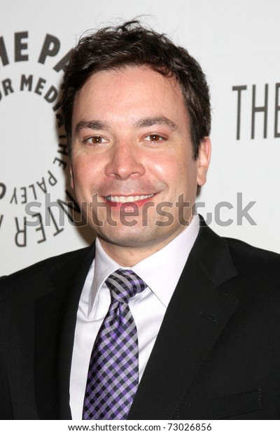 """LOS ANGELES - MAR 11:  Jimmy Fallon arrives at the """"Jimmy Fallon"""" PaleyFest 2011 at Saban Theatre on March 11, 2011 in Beverly Hills, CA"""