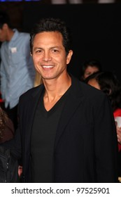 """LOS ANGELES - MAR 12:  Benjamin Bratt arrives at the """"Hunger Games"""" Premiere at the Nokia Theater at LA Live on March 12, 2012 in Los Angeles, CA"""