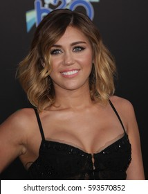 """LOS ANGELES - MAR 12:  MILEY CYRUS arrives for the """"Hunger Games"""" World Premiere on March 12, 2012 in Los Angeles, CA"""